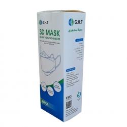 ماسک تنفسی جی اچ تی مدل سه بعدی پنج لایه GHT6 بسته 25 عددی