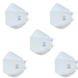 ماسک تنفسی مدل سه بعدی پنج لایه KF94-BL5 بسته 5 عددی