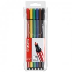 ماژیک علامت گذار استابیلو مدل Pen 68 – بسته 6 عدی