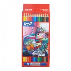 مداد رنگی 12 رنگ البرز مدل گربه