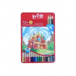 مداد رنگی 15 رنگ آریا طرح قلعه کد 3+12