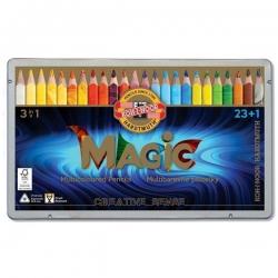 مداد رنگی کوه نور مدل جادویی  طرح جامبو 8024 بسته 24 عددی