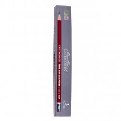 مداد طراحی کرتاکالر کد 16006 با درجه سختی 6B بسته 3 عددی