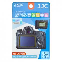 محافظ صفحه نمایش دوربین جی جی سی مدل LCP-760D مناسب برای دوربین کانن EOS 760D مجموعه 4 عددی