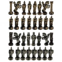 مهره شطرنج مدل جنگ های صلیبی Metal مجموعه 32 عددی