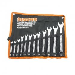 مجموعه 12 عددی اچار یکسر تخت یکسر رینگی سایموند مدل 3113