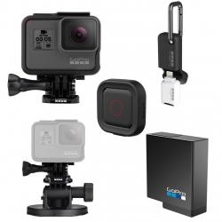 مجموعه دوربین فیلم برداری ورزشی گوپرو مدل HERO6 Black پکیج 2