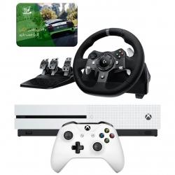 مجموعه کنسول بازی مایکروسافت مدل Xbox One S ظرفیت ۱ ترابایت به همراه 20 عدد بازی