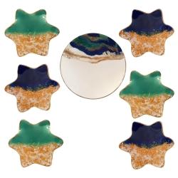 مجموعه ظروف هفت سین 7 پارچه مدل ستاره کد 031