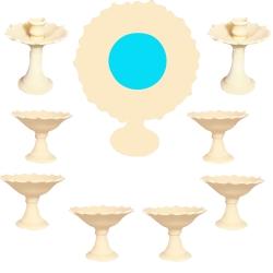 مجموعه ظروف هفت سین 9 پارچه طرح لبچین کد hta9