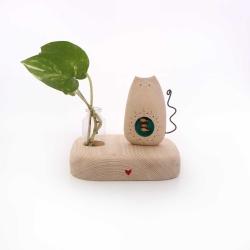 مجسمه چوبی آرانیک مدل گلدانی کد 1105900051