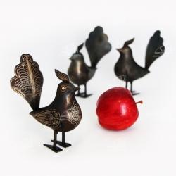 مجسمه فولادی ساده رنگ  خاکستری تیره طرح پرنده مدل 1105700001
