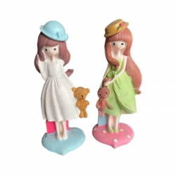 مجسمه مدل دختر عروسک به دست کد 42211 مجموعه ۲ عددی