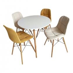 میز و صندلی ناهارخوری 4 نفره مدل A28