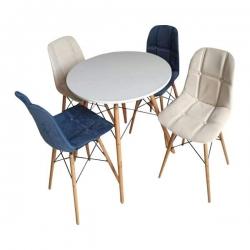 میز و صندلی ناهارخوری 4 نفره مدل D438