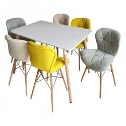میز و صندلی ناهارخوری 6 نفره مدل B9123