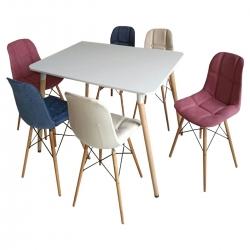 میز و صندلی ناهارخوری 6 نفره مدل a238