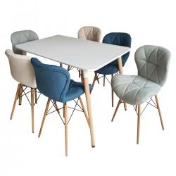 میز و صندلی ناهارخوری 6 نفره مدل a932