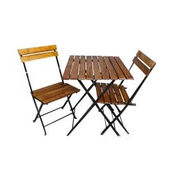 میز و صندلی ناهارخوری مدل چوب و فلز
