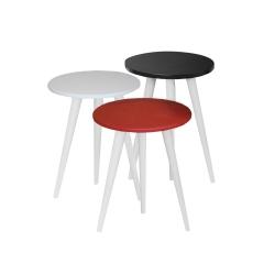 میز عسلی مدل 456 کد 27 مجموعه 3 عددی