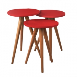 میز عسلی مدل 456 کد 90 مجموعه 3 عددی