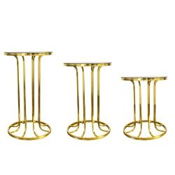 میز عسلی وزرا مدل MI128 مجموعه 3 عددی