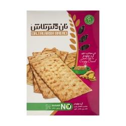 نان سوخاری با آرد چاودار  و زنجبیل و کتان نان تلاش – 400 گرم