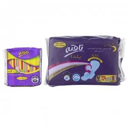 نوار بهداشتی تافته مدل Yalda بسته 7 عددی به همراه پد بهداشتی روزانه مدل Ultra thin بسته 20 عددی