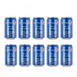 نوشابه گاز دار با طعم کولا پپسی – 330 میلی لیتر بسته ۱۰ عددی