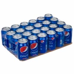 نوشابه گاز دار قوطی با طعم کولا پپسی – 330 میلی لیتر بسته 24 عددی