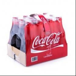 نوشابه کولا کوکاکولا – 250 میلی لیتر بسته 12 عددی