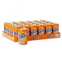 نوشابه پرتقالی فانتا – 330 میلی لیتر مجموعه 24 عددی