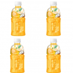 نوشیدنی بدون گاز پرتقال حاوی تکه های نارگیل لون استار – 320 میلی لیتر بسته 4 عددی