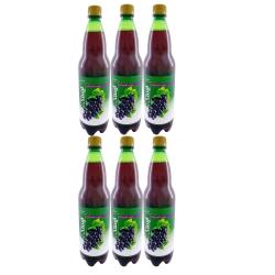 نوشیدنی گازدار انگور قرمز ایستک حجم 1 لیتر بسته 6 عددی