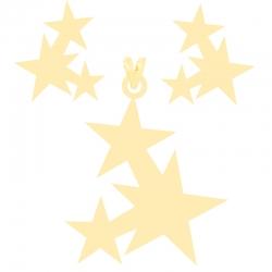 نیم ست طلا 18 عیار زنانه کرابو طرح ستاره مدل Kr8048