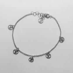 پابند نقره زنانه مدل۰۰۱