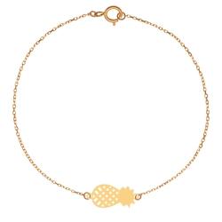 پابند طلا 18 عیار زنانه کرابو طرح آناناس مدل Kr2025