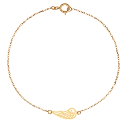 پابند طلا 18 عیار زنانه کرابو طرح بال مدل Kr2114