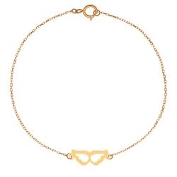 پابند طلا 18 عیار زنانه کرابو طرح بال مدل Kr2152