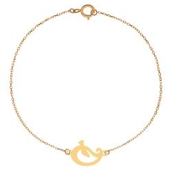 پابند طلا 18 عیار زنانه کرابو طرح بته جقه و پرنده مدل Kr2089