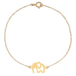 پابند طلا 18 عیار زنانه کرابو طرح فیل مدل Kr2043