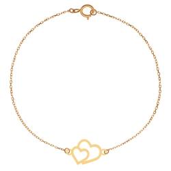 پابند طلا 18 عیار زنانه کرابو طرح قلب مدل Kr2026