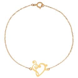 پابند طلا 18 عیار زنانه کرابو طرح قلب و کلید سل مدل Kr2034