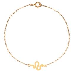 پابند طلا 18 عیار زنانه کرابو طرح مار مدل Kr2073