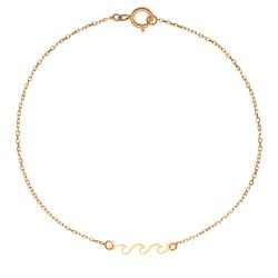 پابند طلا 18 عیار زنانه کرابو طرح موج مدل Kr2068