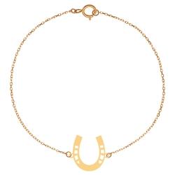 پابند طلا 18 عیار زنانه کرابو طرح نعل مدل Kr2116