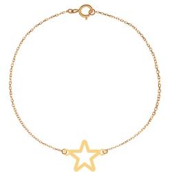 پابند طلا 18 عیار زنانه کرابو طرح ستاره مدل Kr2008