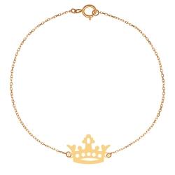 پابند طلا 18 عیار زنانه کرابو طرح تاج مدل Kr2119