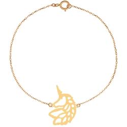 پابند طلا 18 عیار زنانه کرابو طرح یونیکورن مدل Kr2117