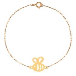 پابند طلا 18 عیار زنانه کرابو طرح زنبور مدل Kr2014